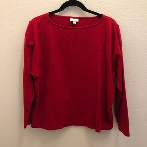 Pure Jill Red Long Sleeve